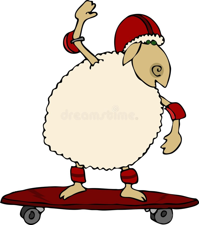 owca jeździć ilustracji