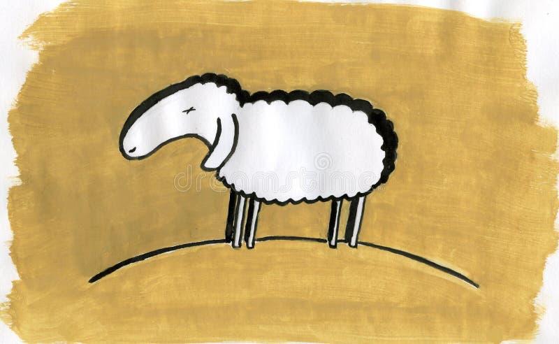 owce royalty ilustracja