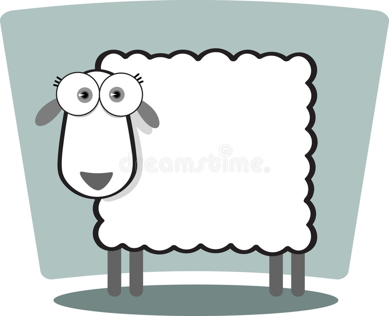owce komiks. ilustracja wektor