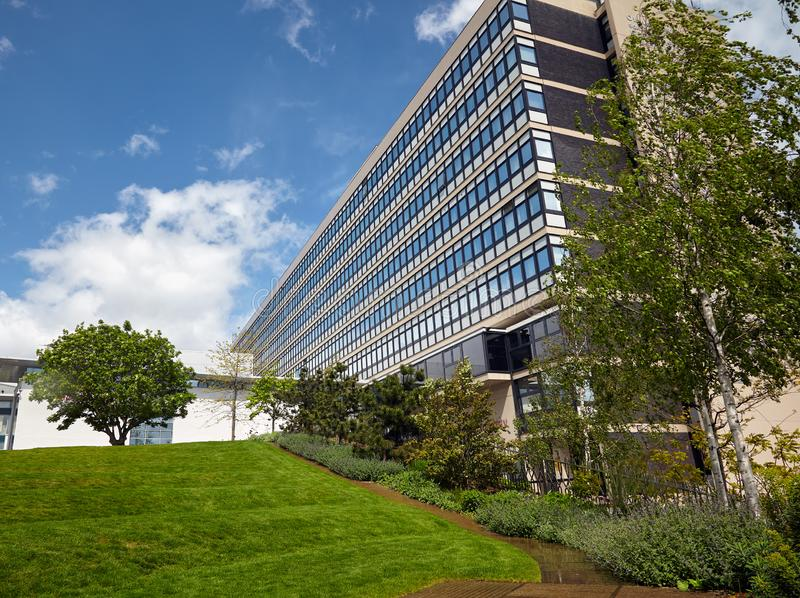 Owen budynek Sheffield Hallam uniwersytet sykl england zdjęcie stock