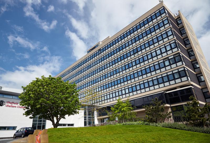 Owen budynek Sheffield Hallam uniwersytet sykl england zdjęcia stock