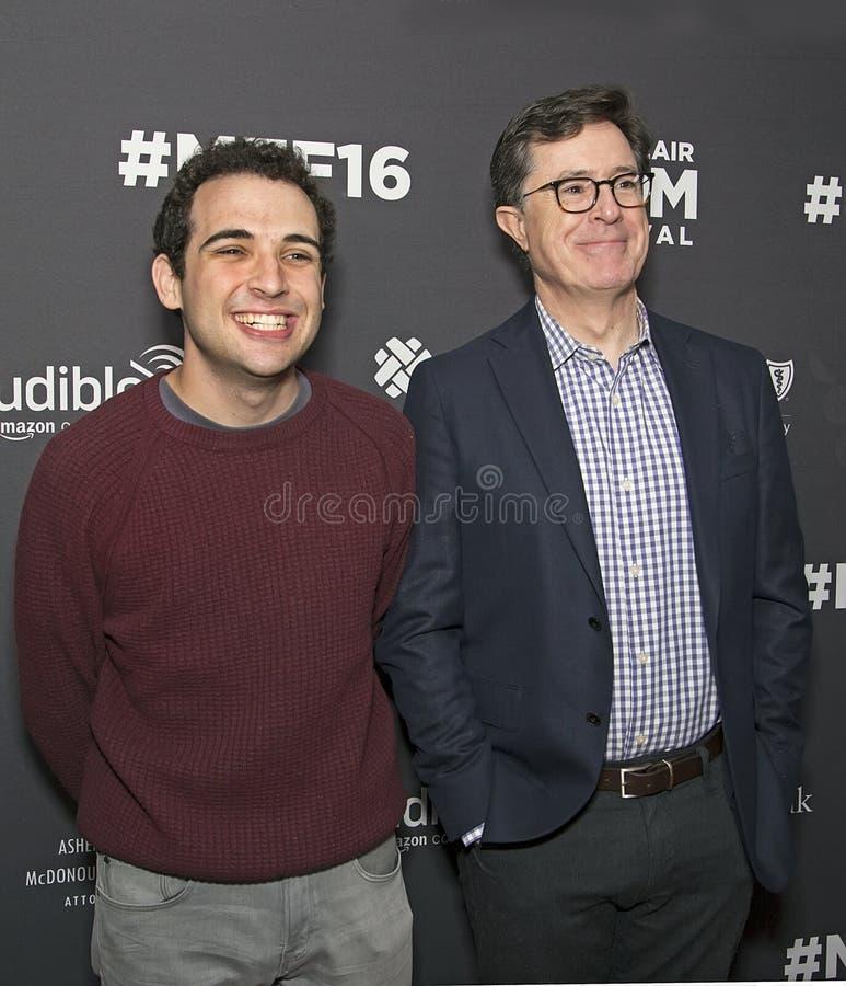 Owen Suskind et Stephen Colbert photo libre de droits