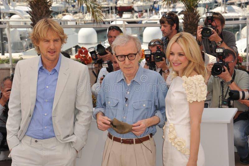 Owen Wilson, Woody Allen immagini stock