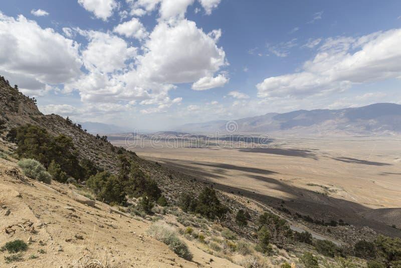 Owens Dolinny Samotny Sosnowy widok Kalifornia obrazy royalty free