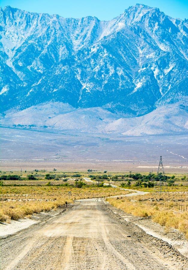 Owens Dolinny Sierra Nevada Vista zdjęcie stock
