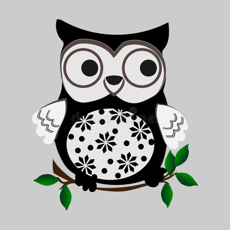 Owl - векторная иллюстрация Конструкция значков Символы мультфильма иллюстрация вектора