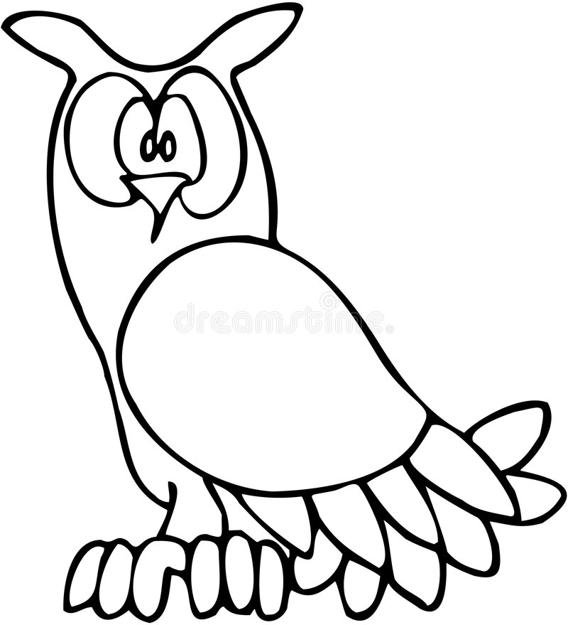 Download Owl 02 stock vector. Image of contrast, line, character - 1344658