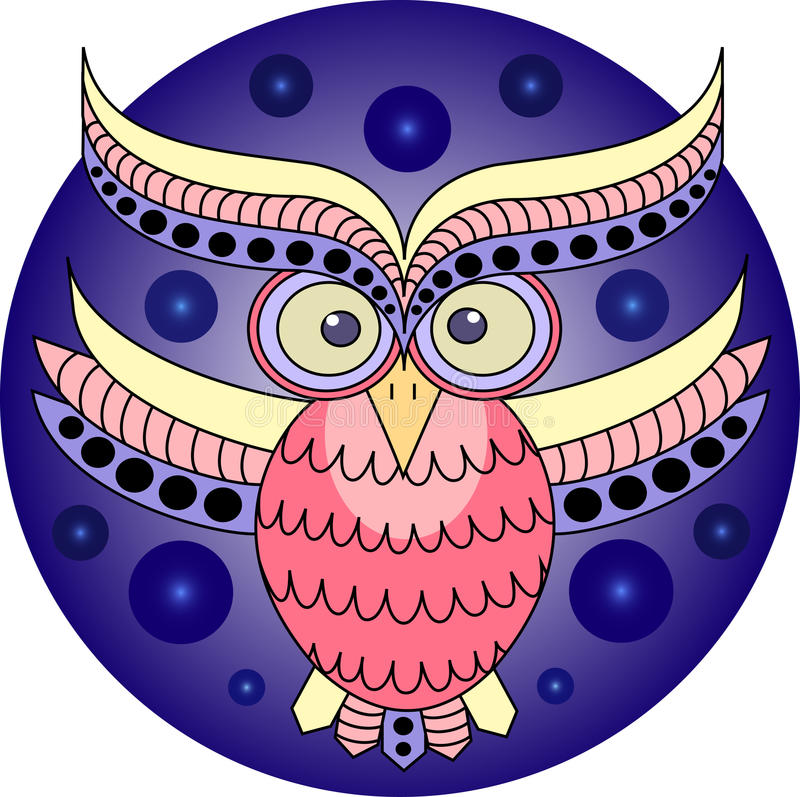Download Owl stock vector. Image of cartoon, cute, yellow, pattern - 27583253