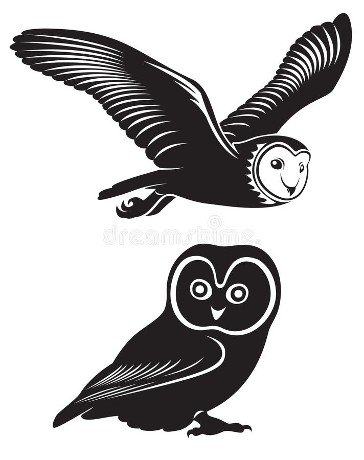 Owl vektor illustrationer