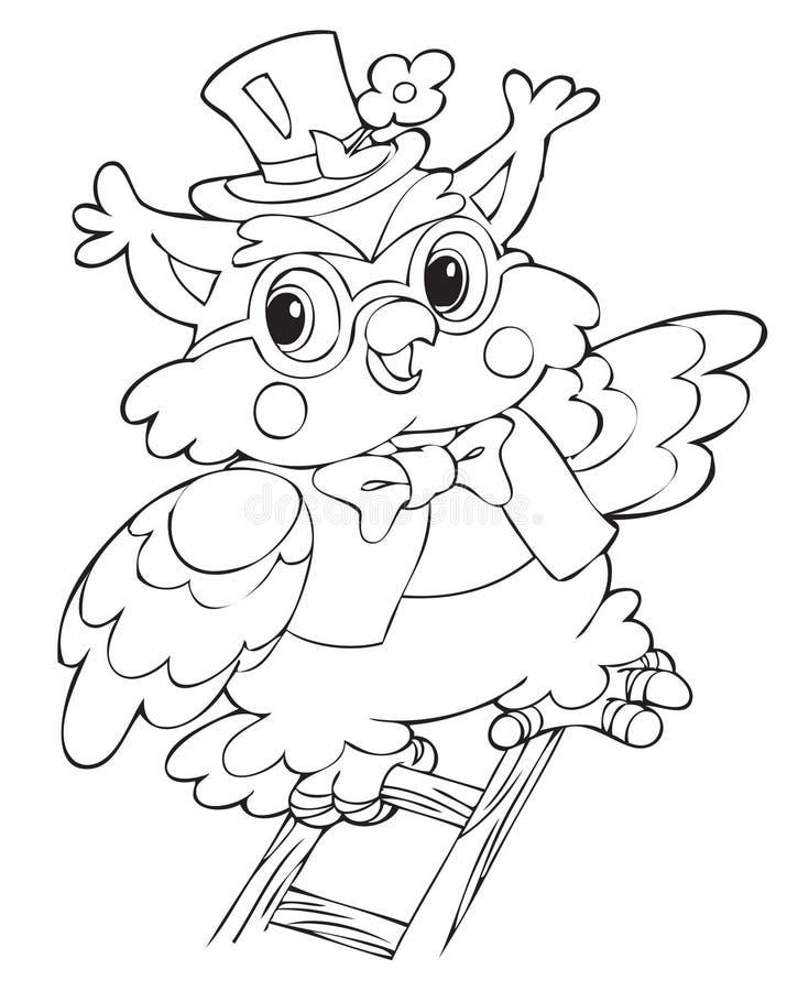 Owl. Illustration of the beautiful owl stock illustration