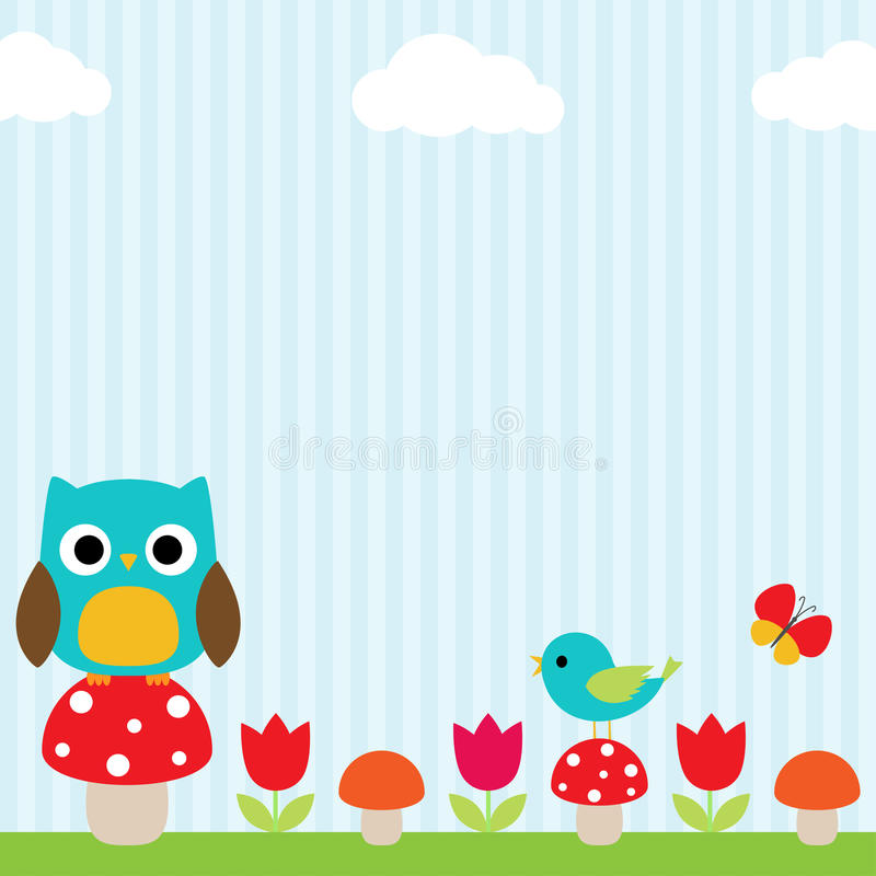 Owl background royalty free illustration