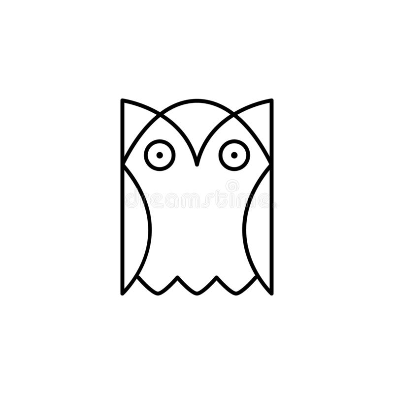 Owl, bird, education icon. Element of education illustration. Signs and symbols can be used for web, logo, mobile app, UI, UX royalty free illustration