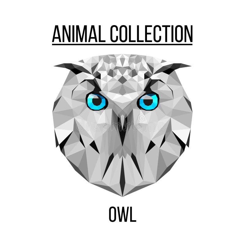 Owl Head Silhouette Vector Geometric owl head sto...