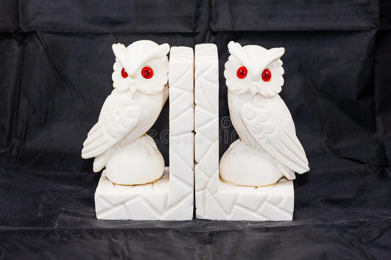 Owl bookends stock image