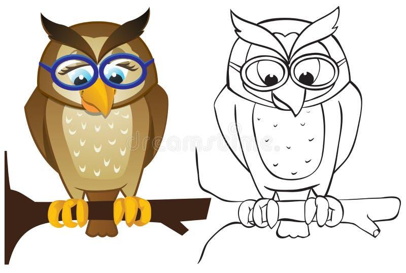 Download Owl on branch stock vector. Illustration of illustration - 24664955