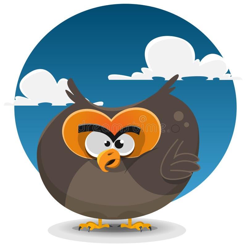 Owl Cartoon Character vektor abbildung