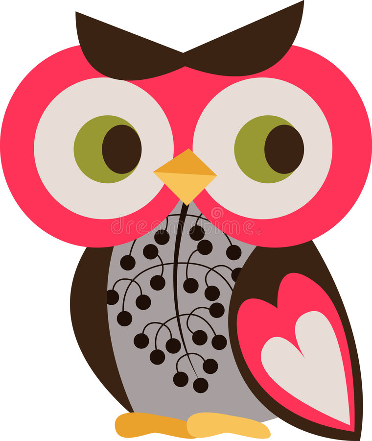 Download Owl character stock illustration. Image of graphic, prey - 9014051