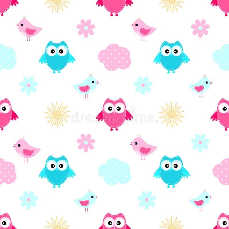 Free Owl Cloud Seamless Pattern Royalty Free Stock Photo - 94311095