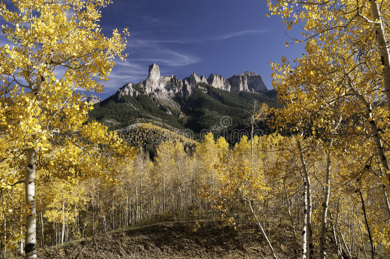Owl Creek Pass with Chimney Rock stock images