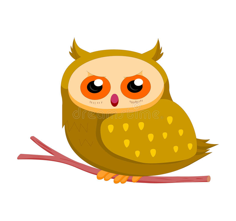 Owl so cute stock illustration