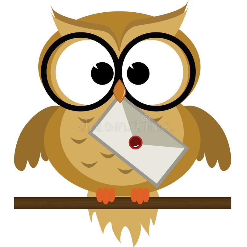 Owl Delivering een Brief royalty-vrije illustratie