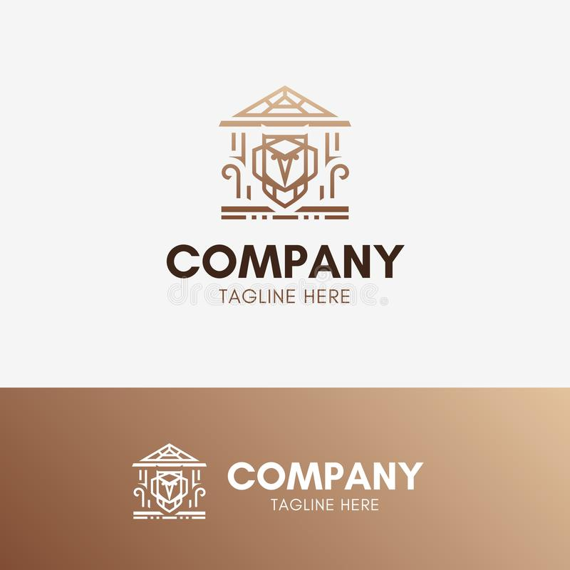 Owl Education Logo stock illustration