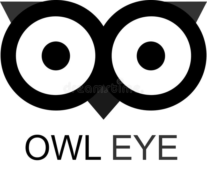 owl eye stock vector illustration of logodesign simple 96519247 rh dreamstime com Printable Owl Eyes Owl Eyes Clip Art