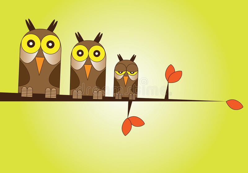 Download Owl Family stock illustration. Image of illustrative - 15708080