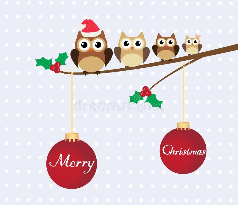 Owl Family stock illustrationer