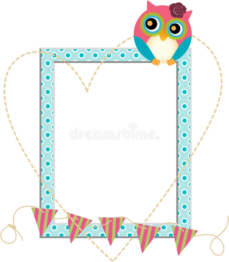 Owl Frame Fotos de Stock Royalty Free