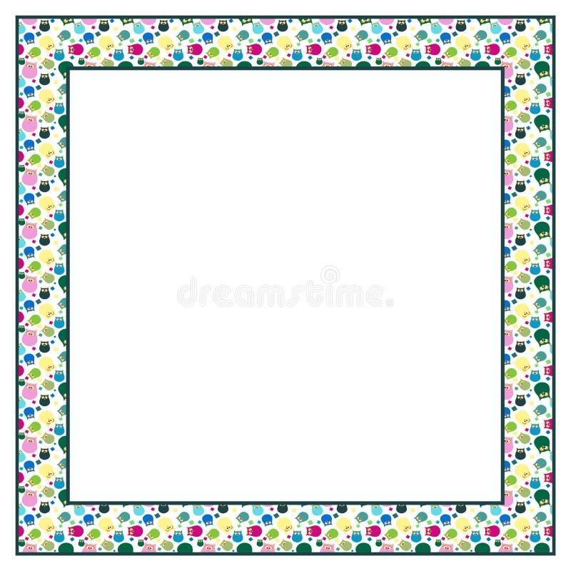 Owl frame stock vector. Illustration of pattern, frame - 55198362