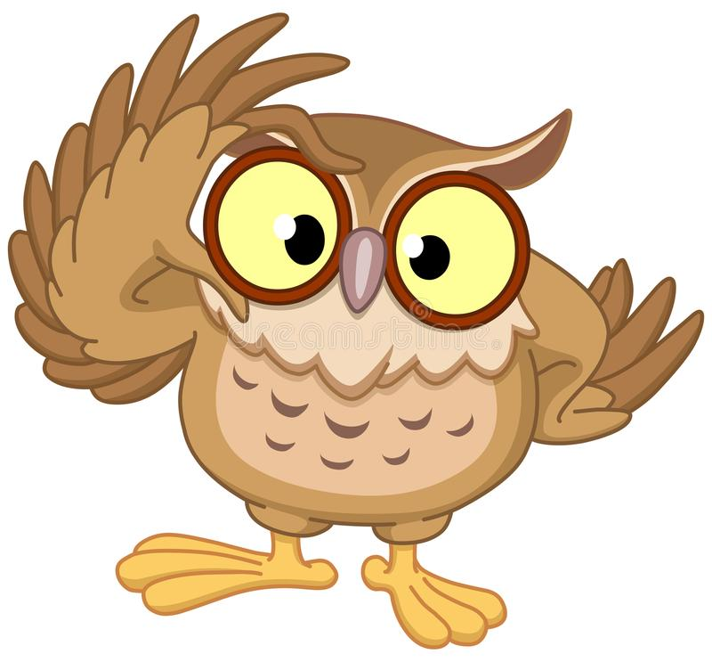 Owl with glasses vector illustration