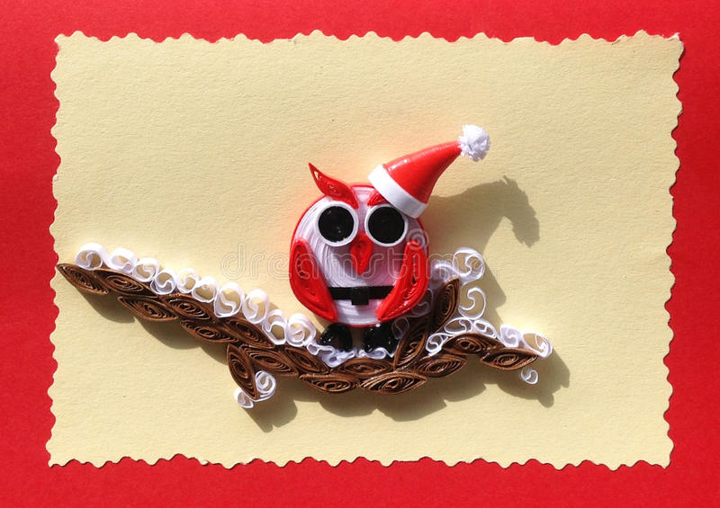 Owl Greeting Card Quilling fotos de stock royalty free