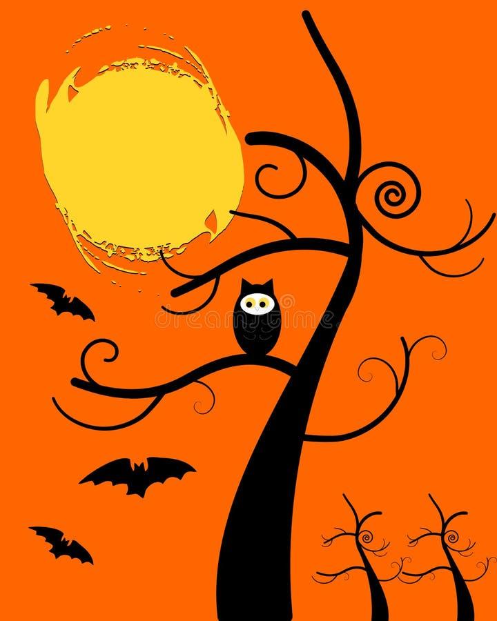 Owl Halloween stock de ilustración