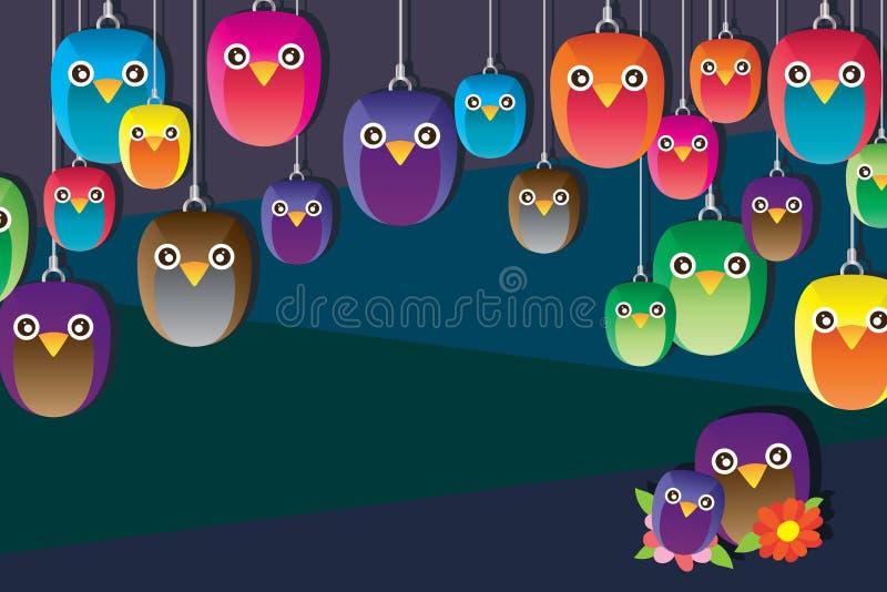 Owl handmade hang cute vector illustration