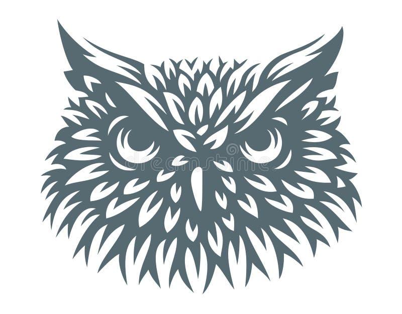 Owl head - vector illustration. Icon design. On white background vector illustration