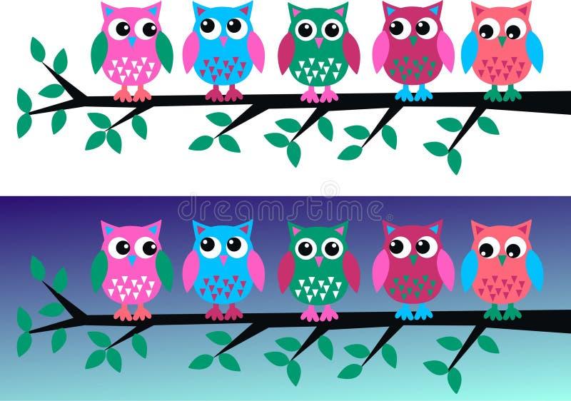 Owl headers royalty free illustration