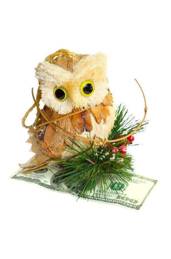 Download Owl holding money stock image. Image of hold, pine, animal - 33584659