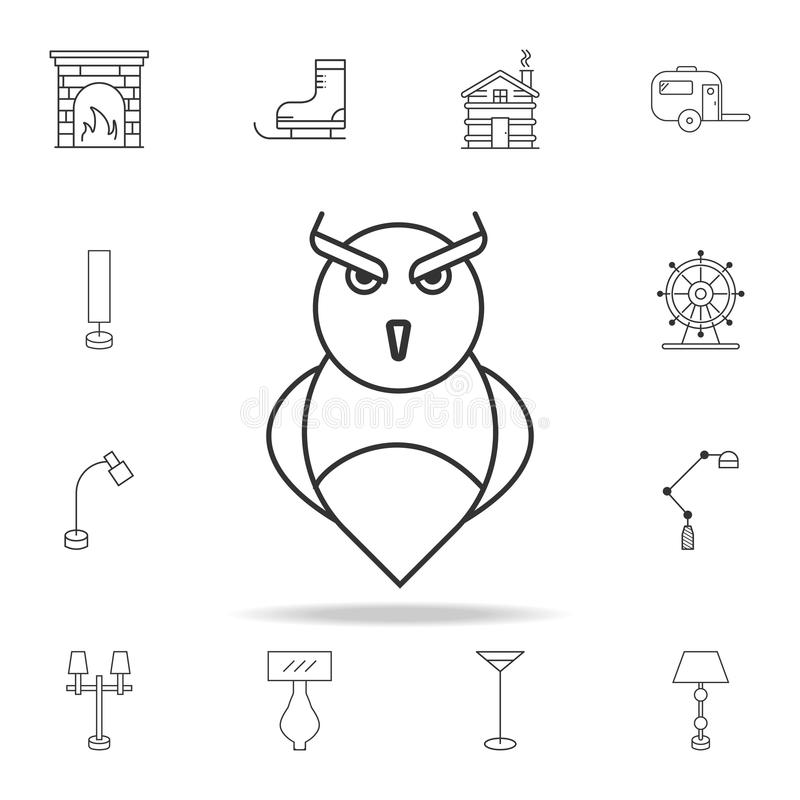owl icon. Detailed set of web icons and signs. Premium graphic design. One of the collection icons for websites, web design, mobil vector illustration