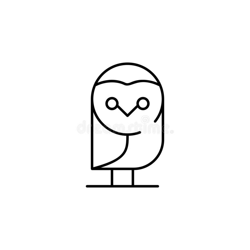 owl icon. Element of Halloween illustration. Premium quality graphic design icon. Signs and symbols collection icon for websites, vector illustration
