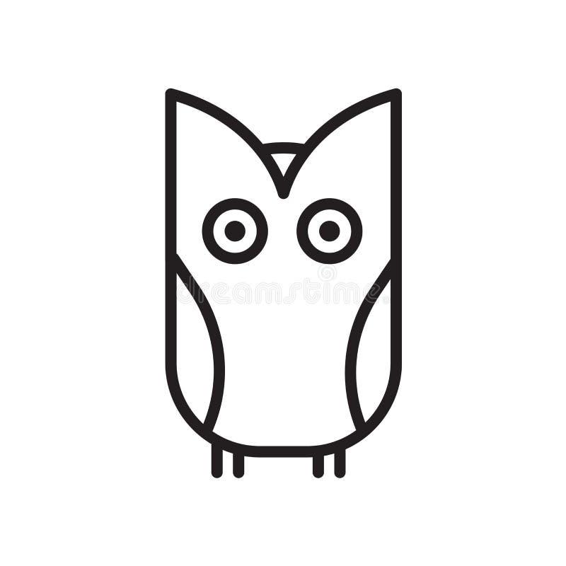 Owl icon isolated on white background vector illustration