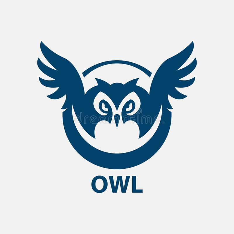 Owl icon in trendy design style. Owl vector logo icon modern and simple flat symbol vector illustration