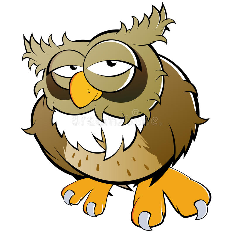 Download Owl illustration stock vector. Illustration of colour - 16339501