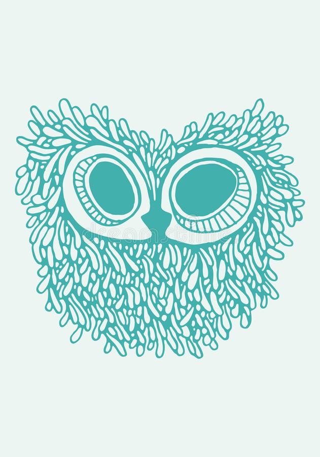 Owl Illustration imagem de stock
