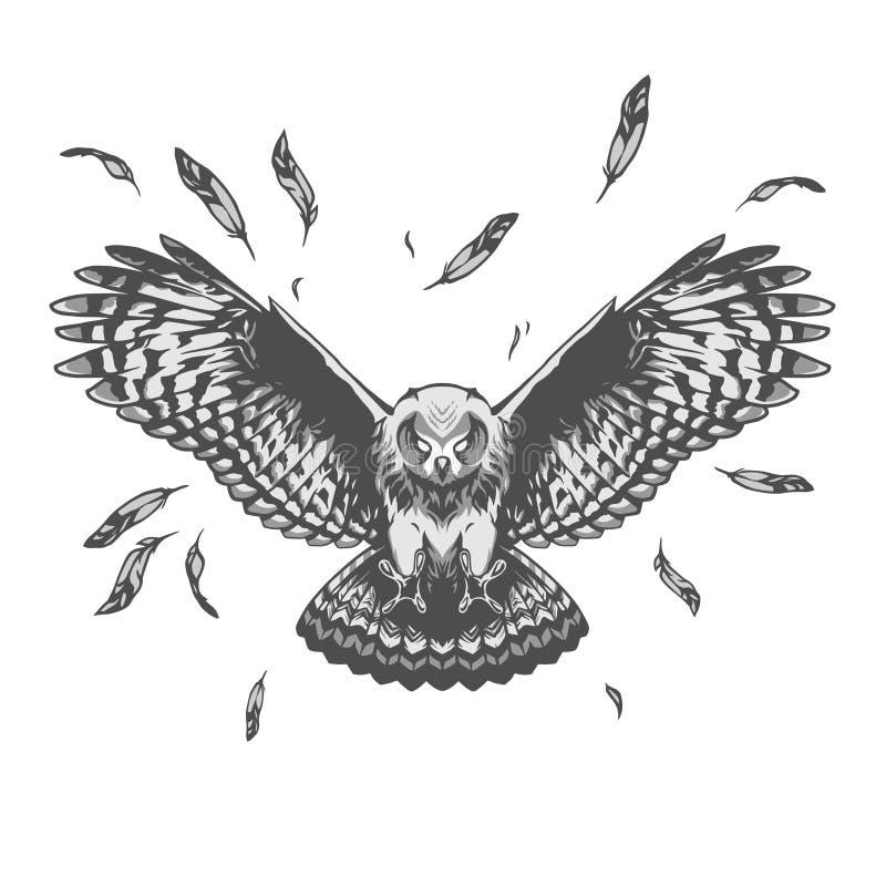 Owl Illustration illustration de vecteur