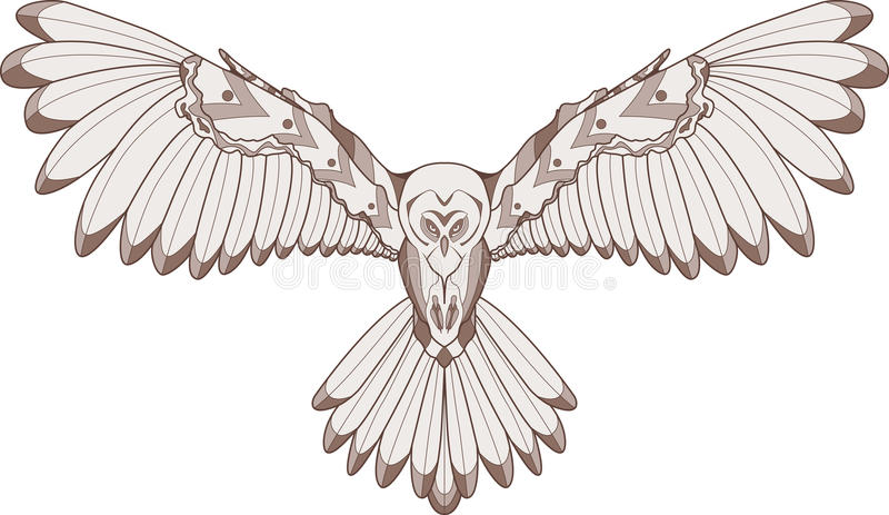 Owl illustration royalty free illustration