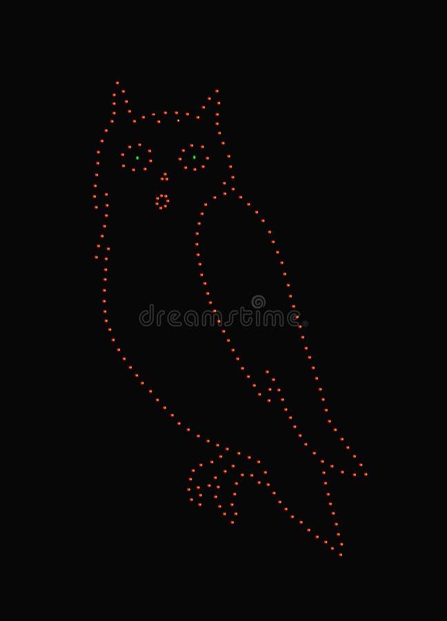 Owl in lights