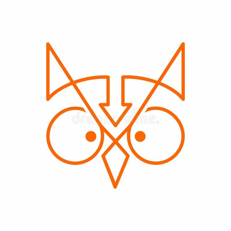 Owl Logo illustrazione di stock