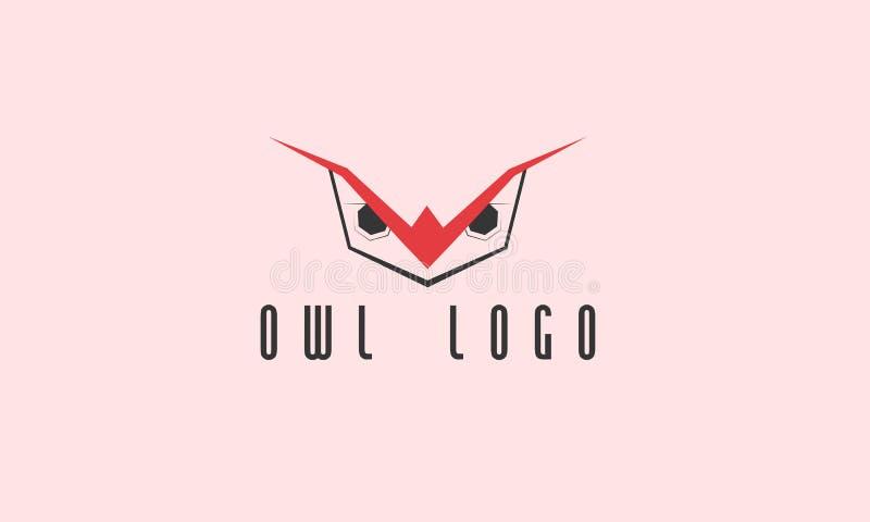 Owl Logo fotografering för bildbyråer