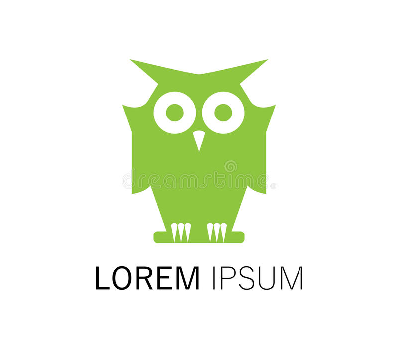 Download Owl Logo Design stock illustration. Image of face, design - 83706835